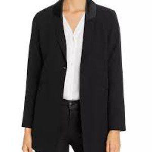 NWT Eileen Fisher Silk Black Shawl Collar Tuxedo M